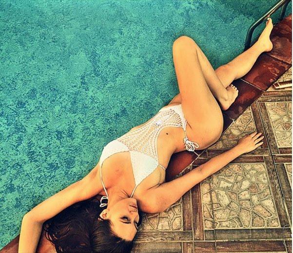 IK Ogbonna's girlfriend, Sonia Morales puts bikini body on display