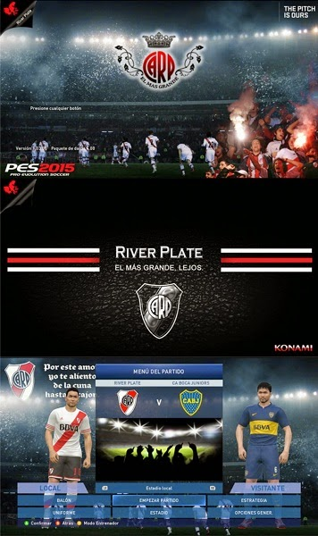 Update PES 2015 PC River Plate Start and Title Screens