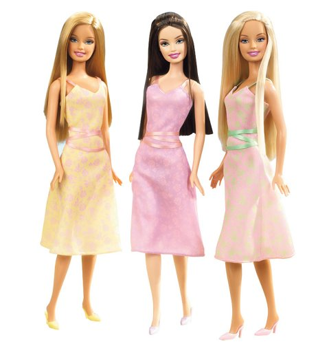 Trio Barbie Dolls