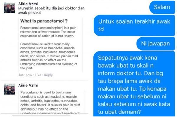 """""""Apa Ke Bangang Doktor Ni, Aku Minta Ubat Tahan Sakit Belakang Bukan Ubat Demam"""".!"""