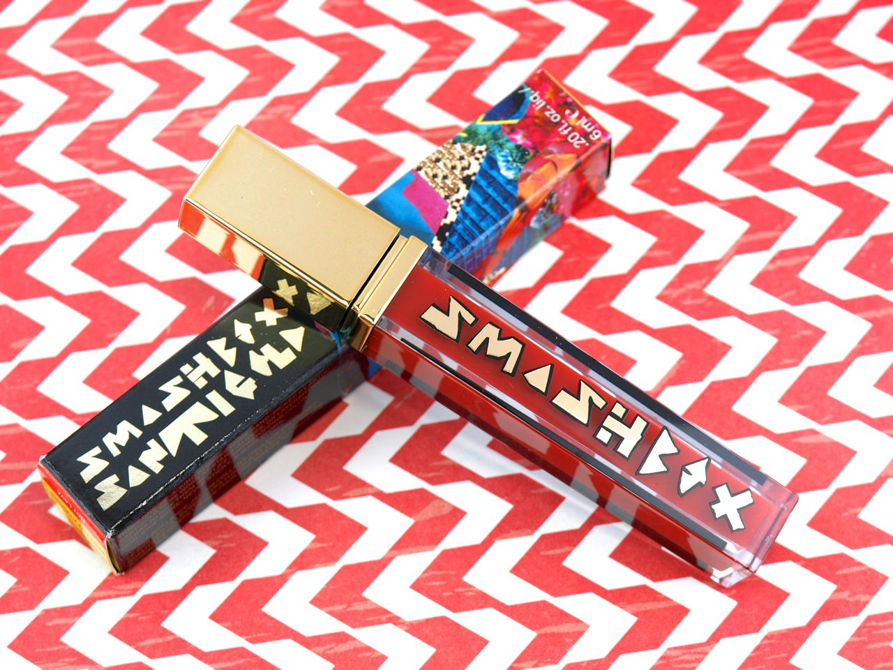 "Smashbox Santigolden Age by Santigold Be Legendary Lip Gloss in ""Hot Lava"": Review and Swatches"