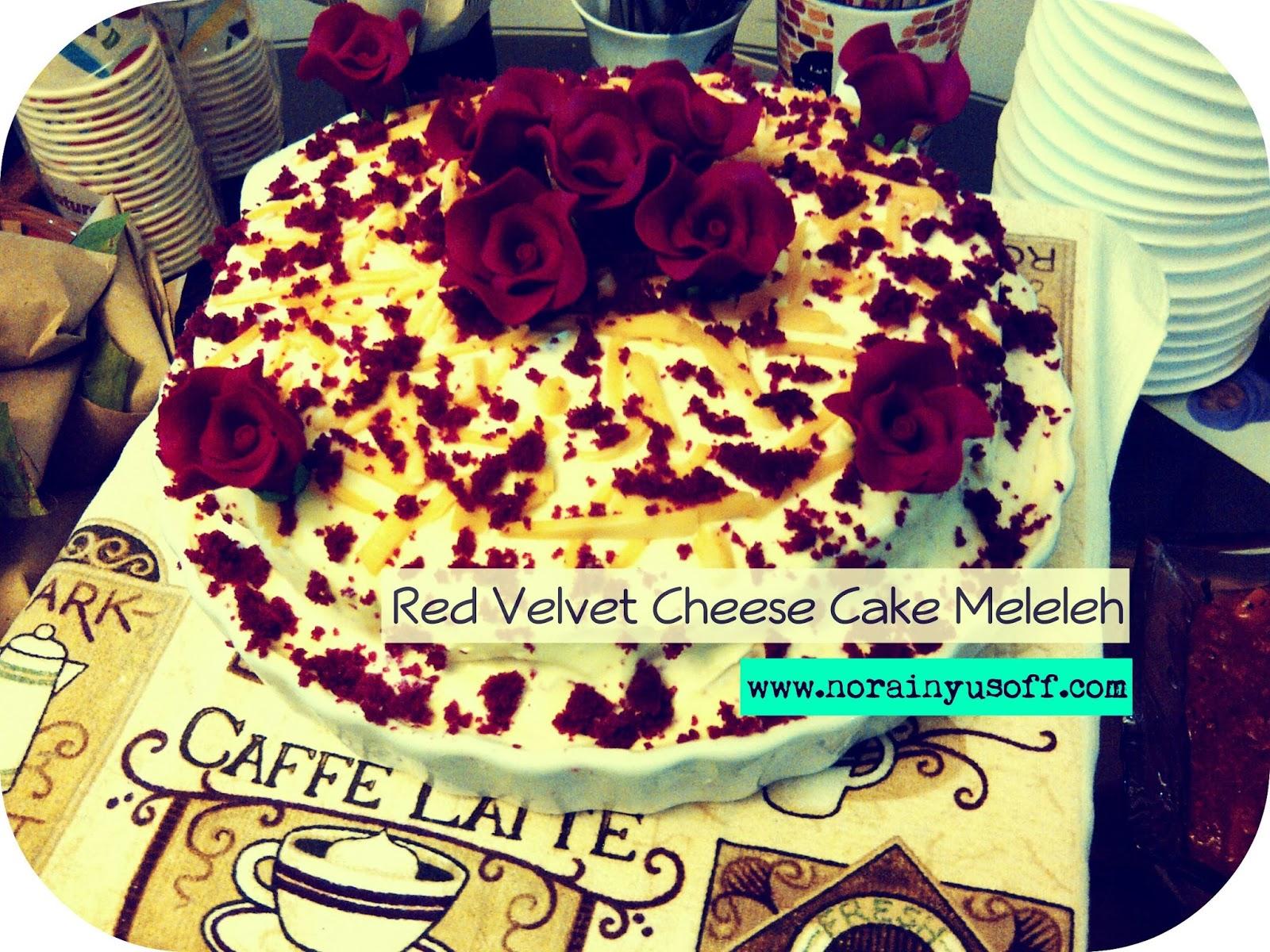 Resepi Kek Red Velvet Cheese Meleleh Yang Paling Sedap