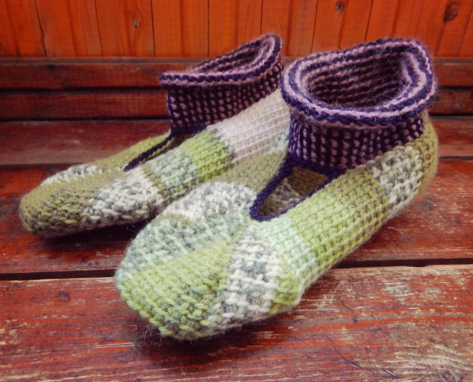 Как связать тунисским крючком (тунисское вязание ) носки, тапочки, следки? 83