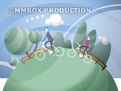 トレイルで自転車