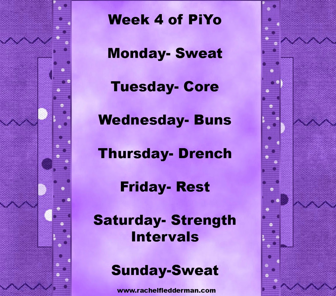 Week 5 of PiYo