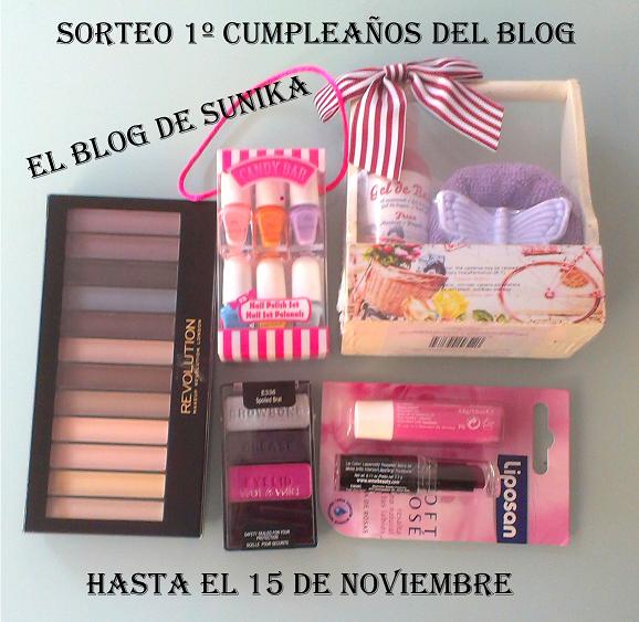 sorteo 1º cumpleaños del blog