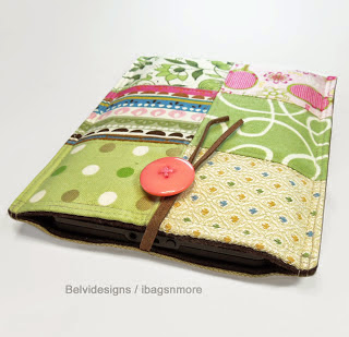 Ideas para hacer Kindle+Fire+case+cover+sleeve+-+Spring+colorful+patchwork+-+Pink+green+yellow+white