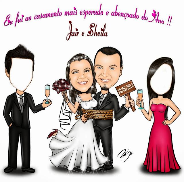 caricatura eu fui no casamento