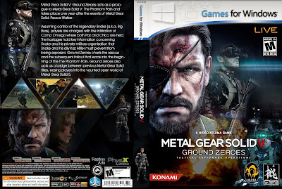 Jogo Metal Gear Solid V Ground Zeroes PC DVD Capa