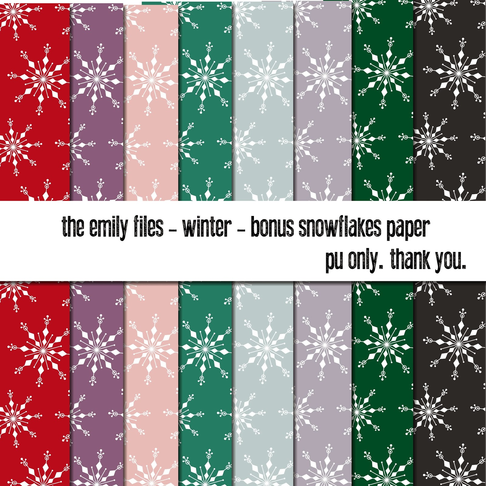 Extra Special Double Bonus Free Snowflake Paper