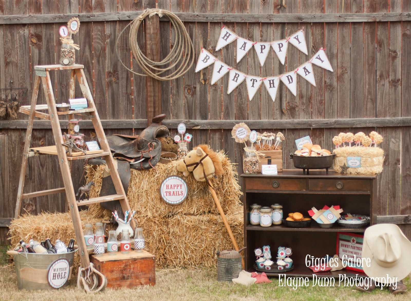 Classic cowboy birthday party for Decoration goods