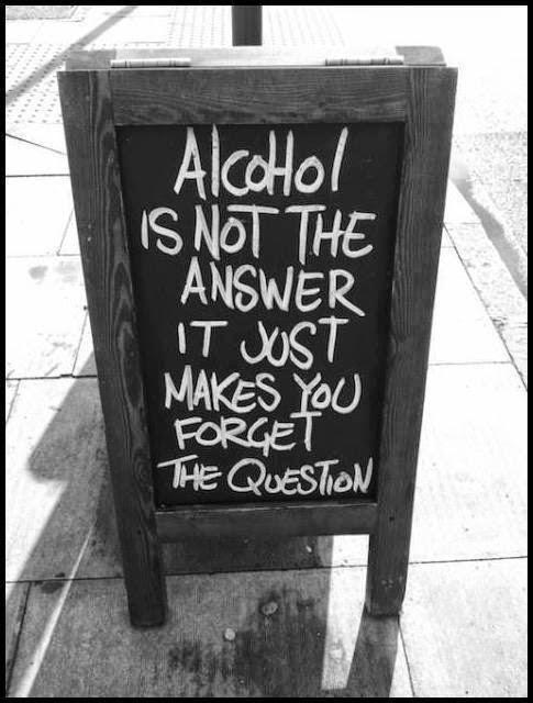 Alkohol i inne używki nie są rozwiązaniem problemów i pozwalają jedynie zapomnieć o pytaniu