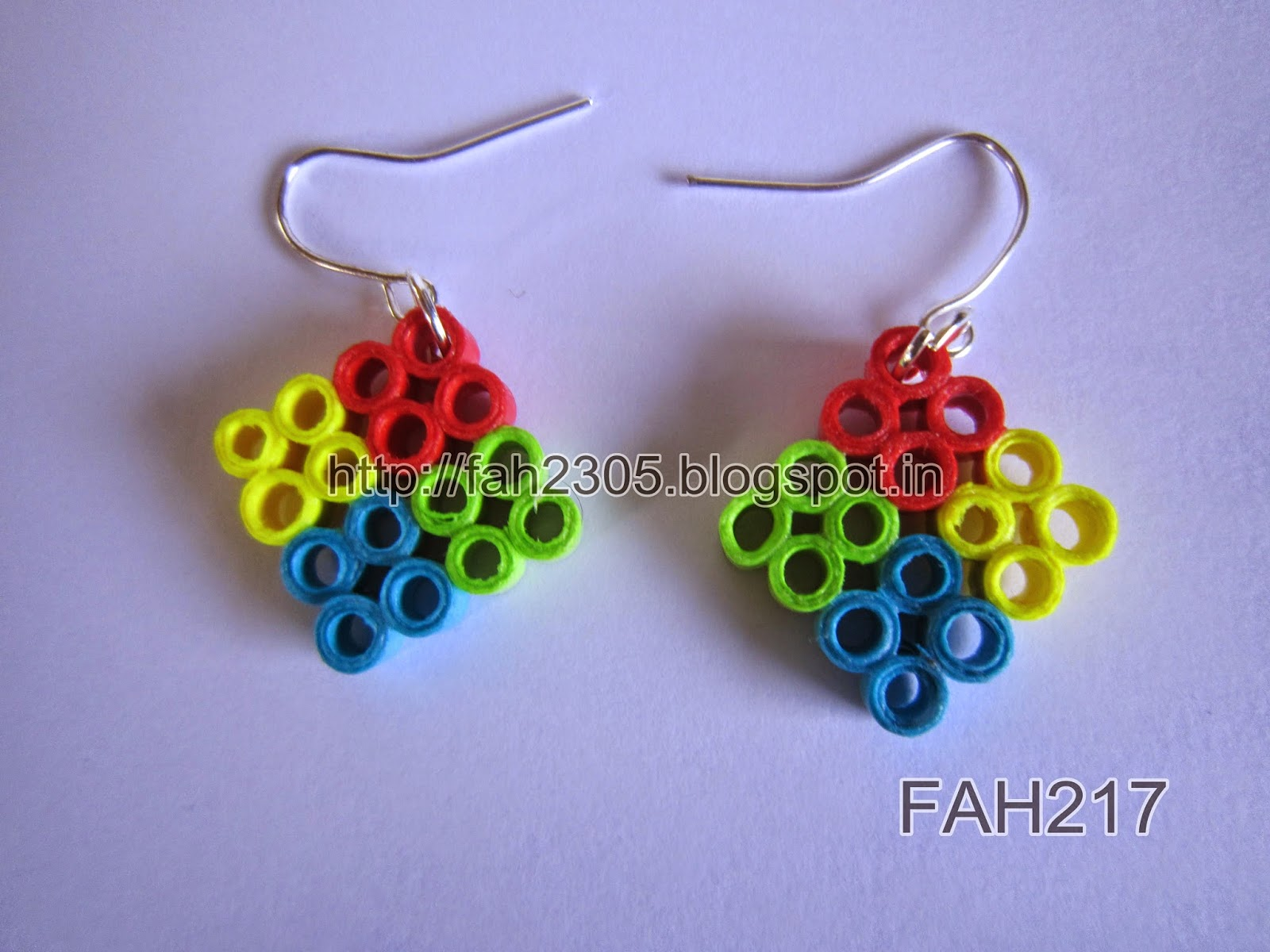 fah creations paper quilling earrings