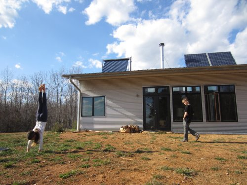 Spring Sprung At The Passive Solar Prefab Home