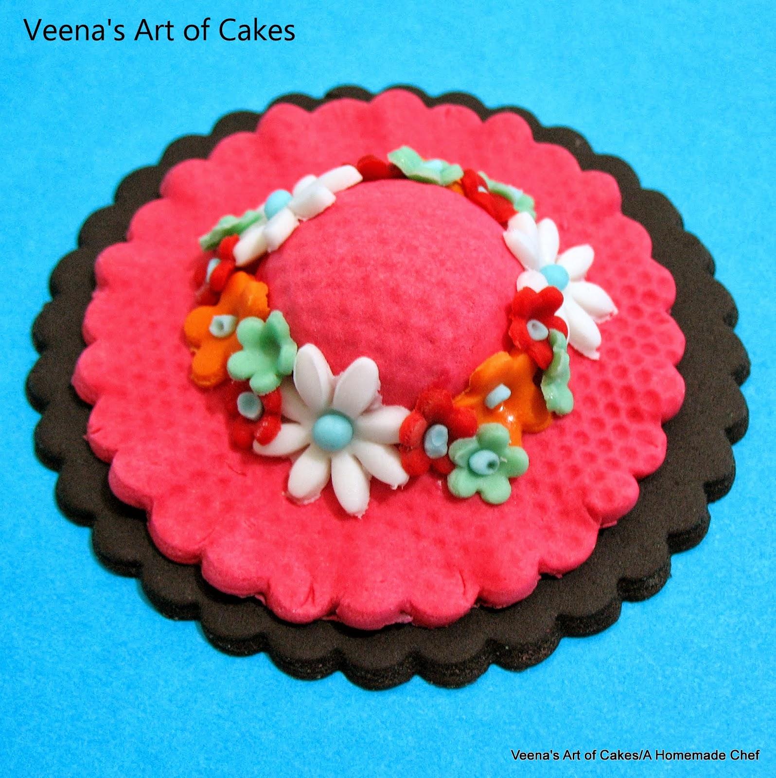 Veena Art Of Cake Fondant Recipe : Veena s Art of Cakes: How to make Gum Paste Hat Cupcake ...