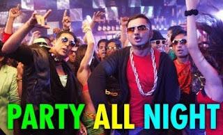 Party All Night Honey Singh Full Song Lyrics - Boss