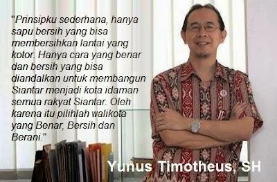 Mengenal Dekat Yunus Timotheus Balon Walikota Siantar