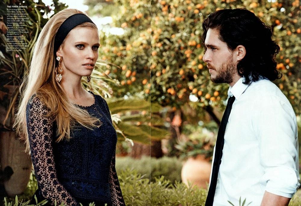 Lara Stone HQ Pictures Vogue US Magazine Photoshoot March 2014