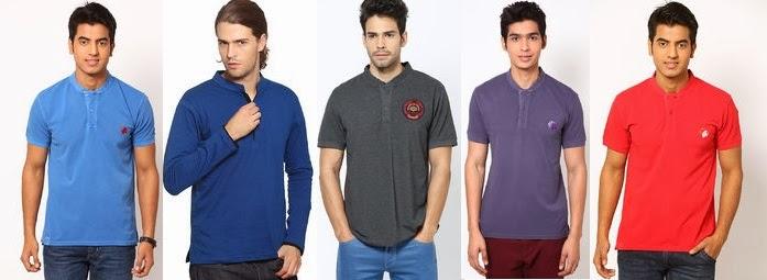 mandarin collar t-shirts