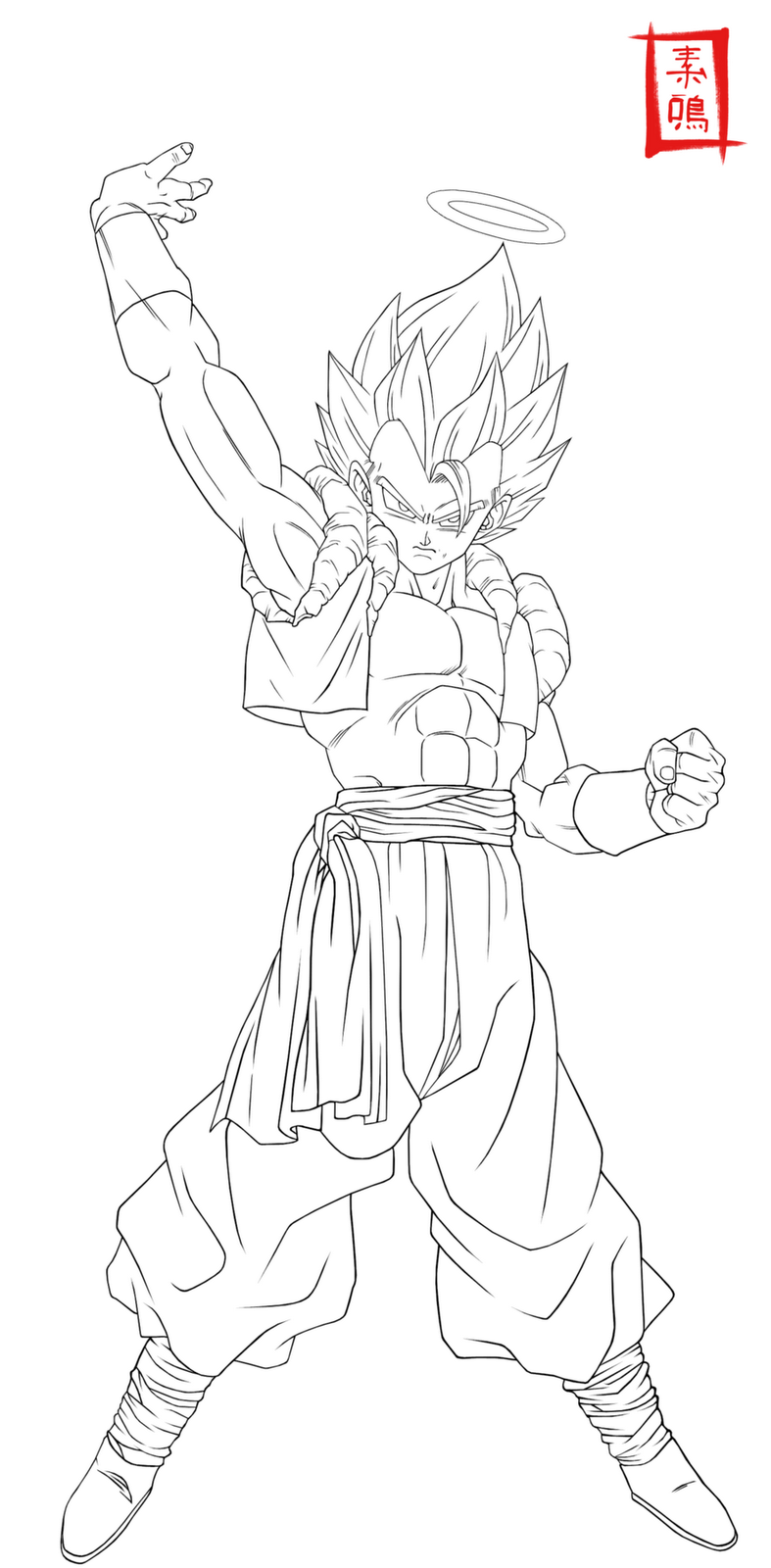 dragon ball z gogeta coloring pages - dibujos de dragon ball z noviembre 2012
