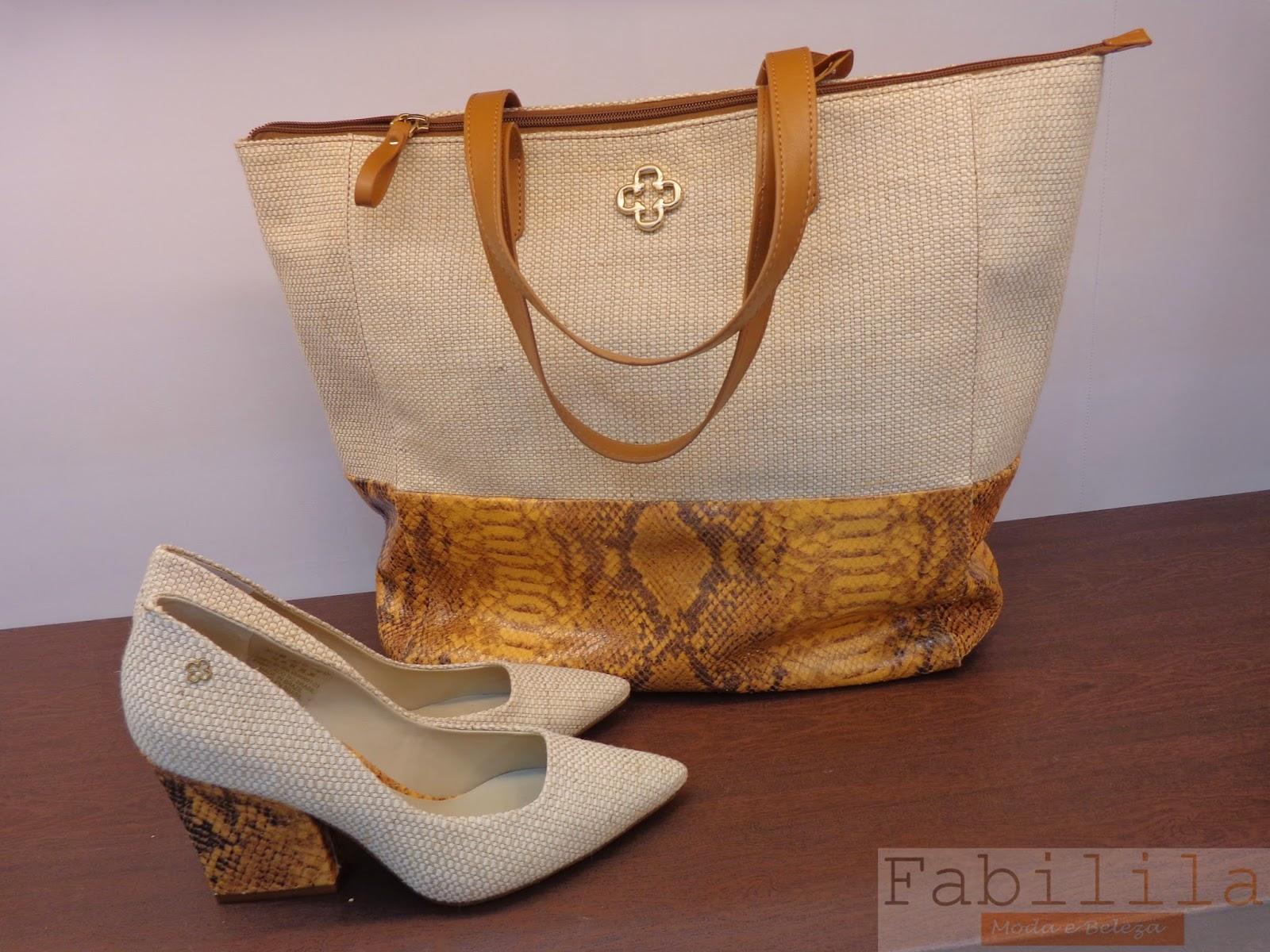 Bolsa e Sapatos - Natural + Animal Print