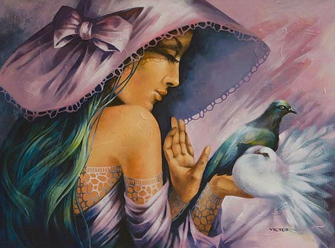 caras-de-mujeres-con-sombreros-pinturas