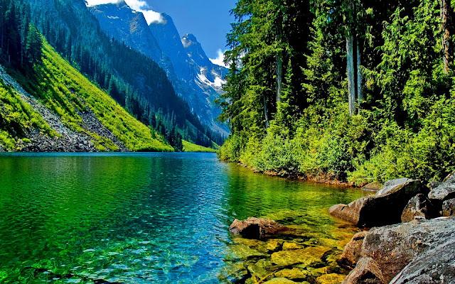 Río en las Montañas Fondos HD de Paisajes
