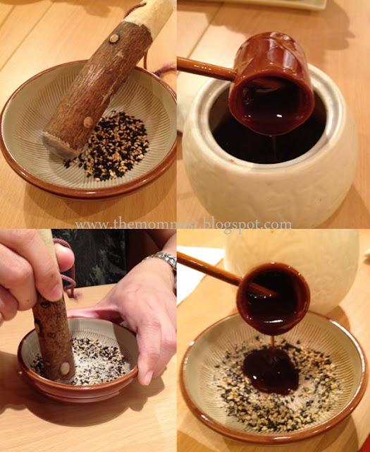 Preparing katsudon sauce