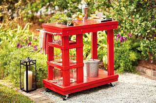 Red Patio Cart - Orchard Girls