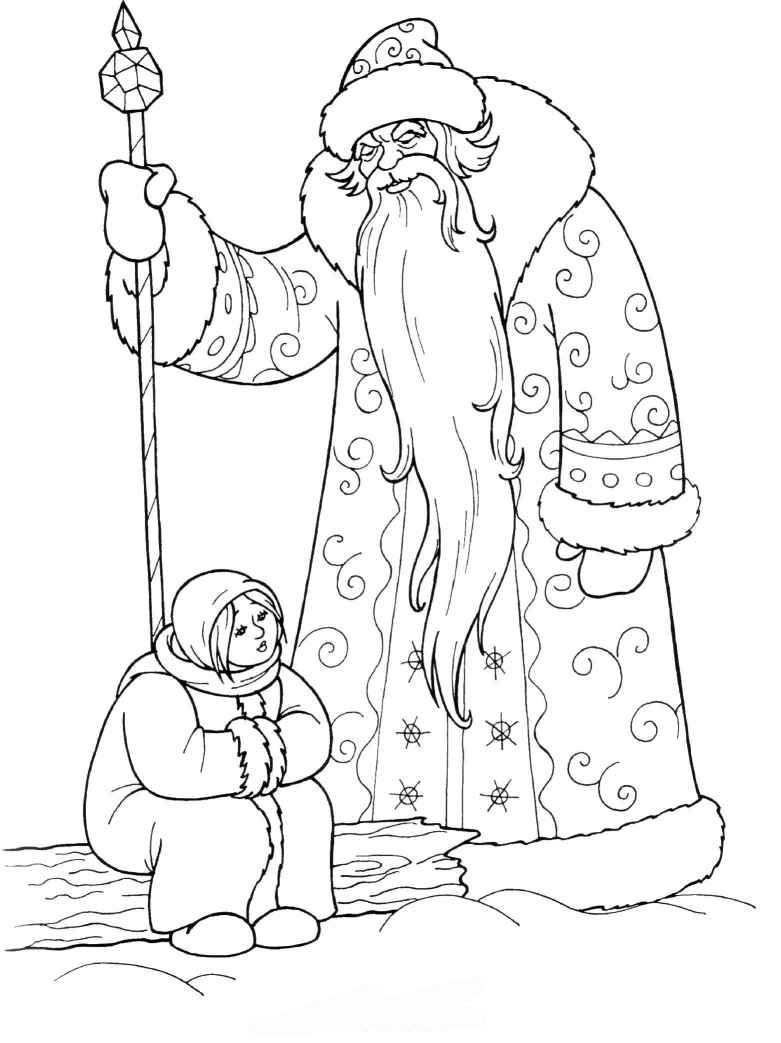 the santa clause coloring pages - photo#32