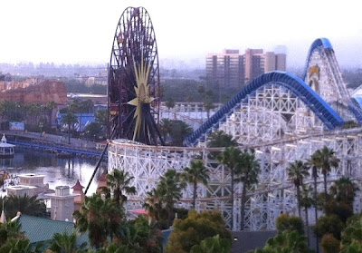 Paradise Pier from hotel window