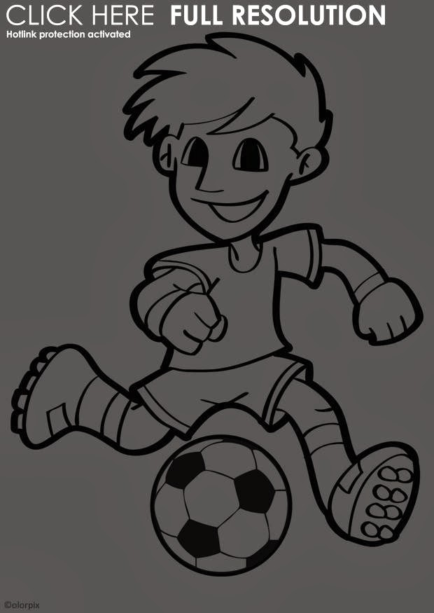 Sport - Gratis Malvorlagen und kostenlose Ausmalbilder - Malvorlagen Kostenlos Fussball