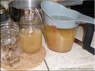 using a gravy separator to defat chicken stock