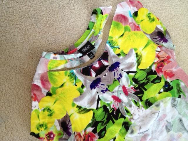 Prabal Gurung for Target shift dress in first date print, Spring time print dress, DIY tshirt and skirt with Prabal Gurung for Target first date dress