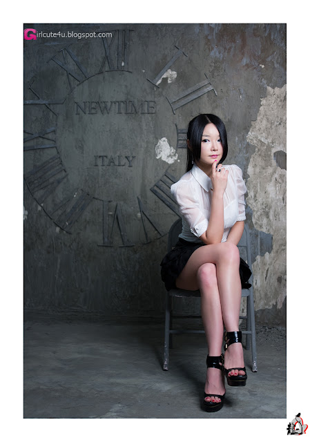 5 Lee Eun Seo - White Sheer and ruffle skirt-very cute asian girl-girlcute4u.blogspot.com