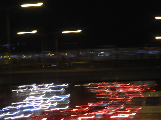Night time traffic in Seoul