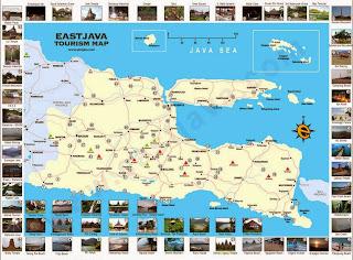 Peta Wisata dan Rute Objek Wisata Jawa Timur