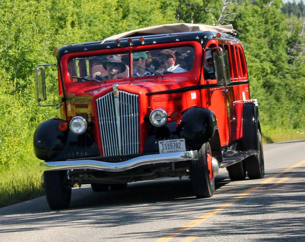Glacier National Park vintage tour bus