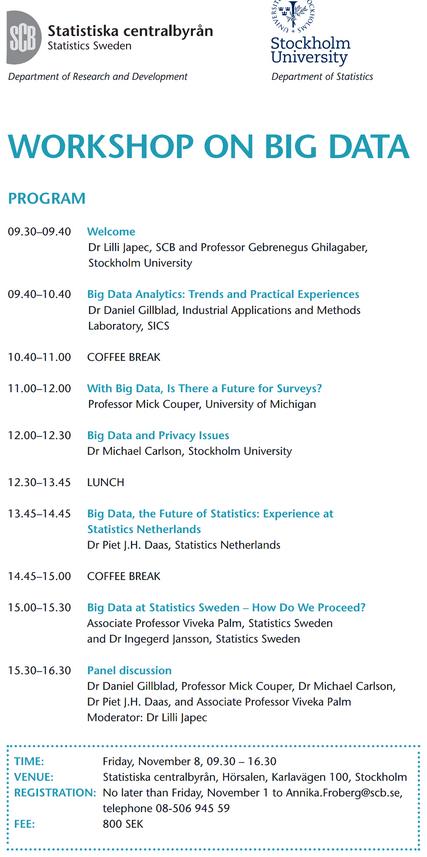 Workshop on BIG DATA