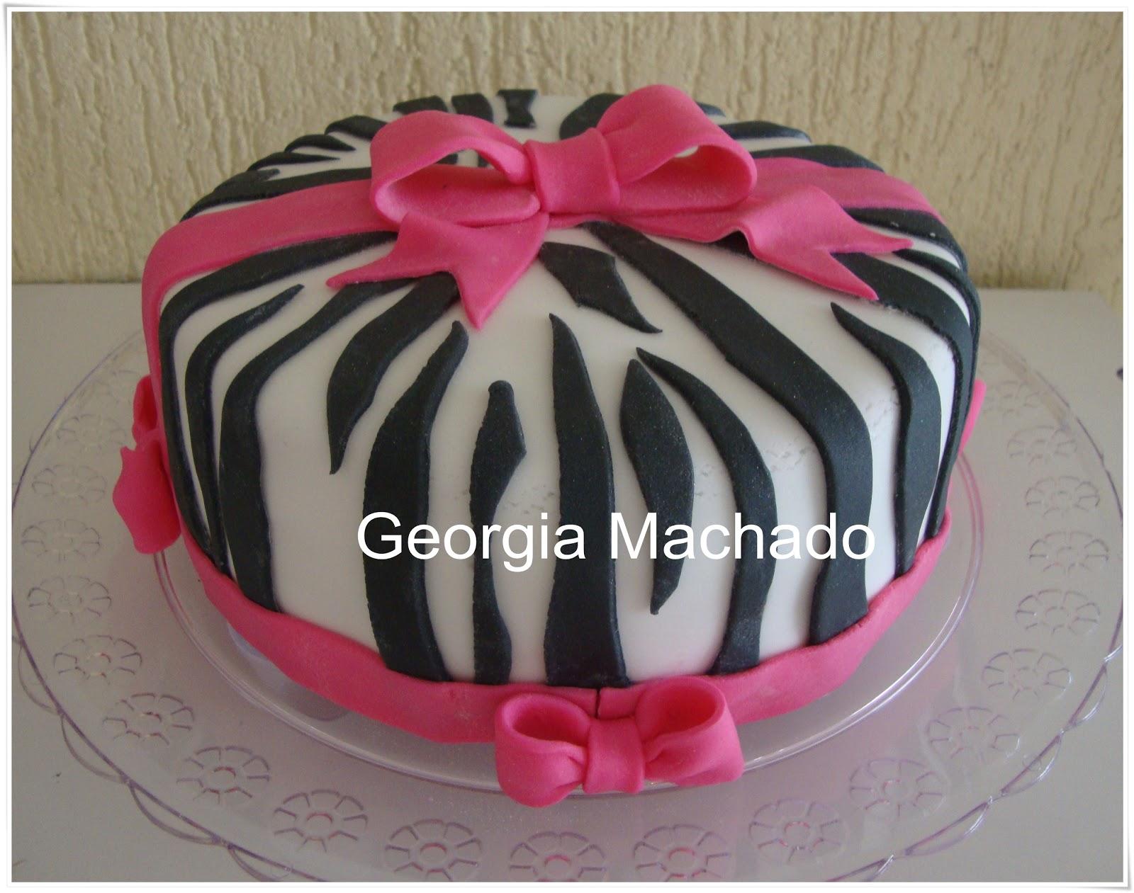 Fabuloso Georgia Machado: Bolo Zebra Rosa LB89