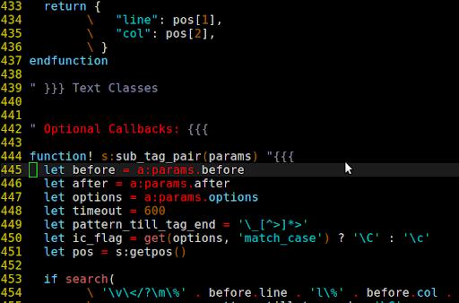 各個 section 之間空兩行,實際程式空了 6 行