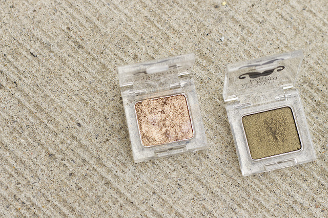 "The Face Shop LOVELY ME:EX YOU & EYES ""Party All Night"" Eyeshadow Sand Brown and Authentic Green"