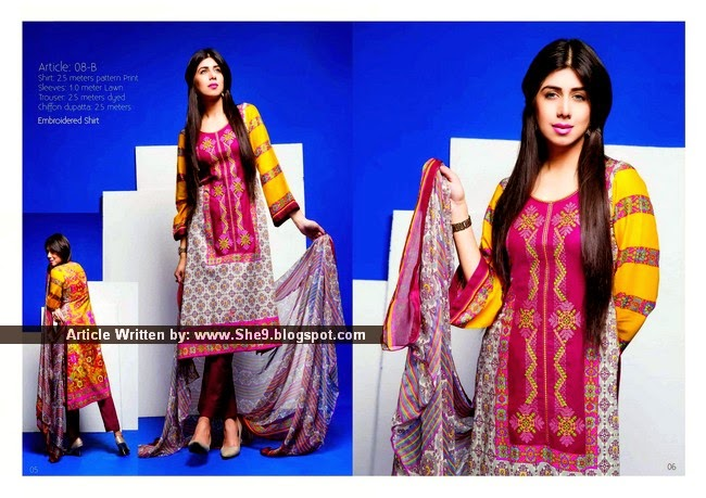 Meghmalhar Embroidered Lawn 2015