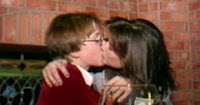 Demi Moore kissing a kid
