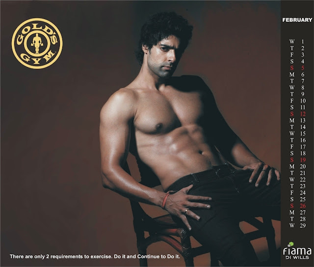 Gold's Gym India Launch 2012 Calendar