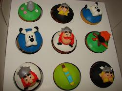 Cupcake Asterix & Obelix