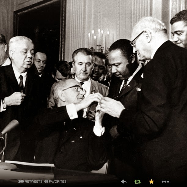 The FICKLIN MEDIA GROUP,LLC: Ficklin Media Commentary: Today is 50th anniversary of the signing of the 1964 Civil Rights Act- What an Ongoing Tragedy
