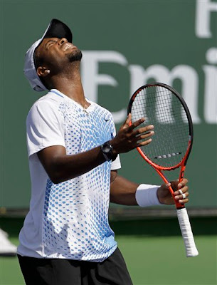 Black Tennis Pro's Donald Young vs Tommy Robredo 2011 BNP Paribas Open