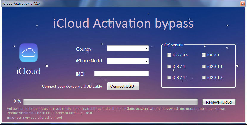 icloud activation bypass version 1.4