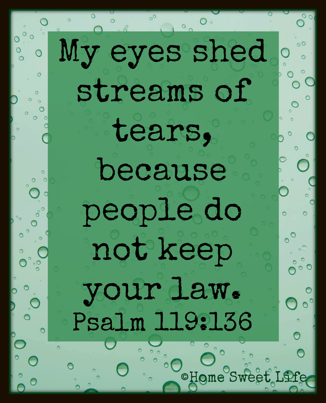 Psalm 119:136